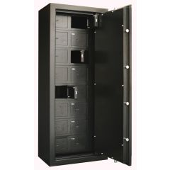ARMOIRE FORTE 16 COMPARTIMENTS - A CLE - INFAC