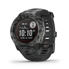 Montre GPS multi-fonction Garmin Instinct Solar - Graphite Camo