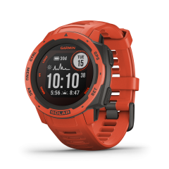 Montre GPS multi-fonction Garmin Instinct Solar - Rouge